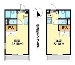 兵庫県神戸市西区水谷1丁目の賃貸アパートの間取り