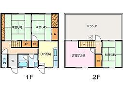 [テラスハウス] 三重県松阪市中央町 の賃貸【/】の間取り