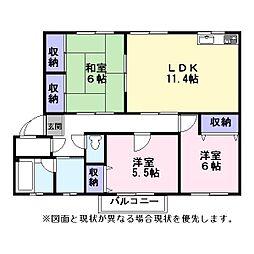 Nasu34[102号室]の間取り