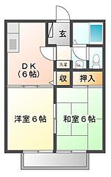 サンライフ神辺[1階]の間取り