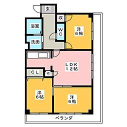 ケイツーホソノ[5階]の間取り