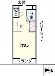 メゾンサイプレス[3階]の間取り