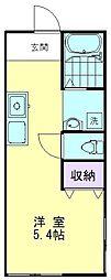 第8プレジデンス細川[201号室]の間取り
