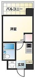 沖縄都市モノレール 旭橋駅 徒歩11分の賃貸マンション 6階1Kの間取り