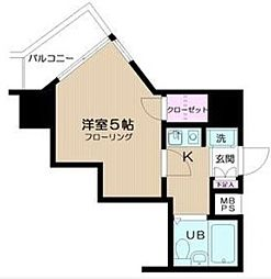 神奈川県横浜市中区長者町1丁目の賃貸マンションの間取り