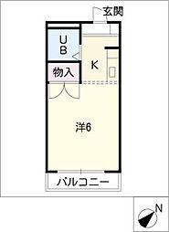 ニューコーポ龍美II[2階]の間取り