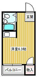 西加賀屋YTマンション[406号室]の間取り