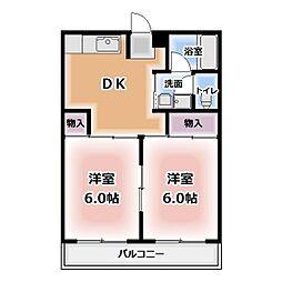 レジデンス八竜[2階]の間取り