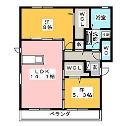 仮)D-room妙興寺[2階]の間取り