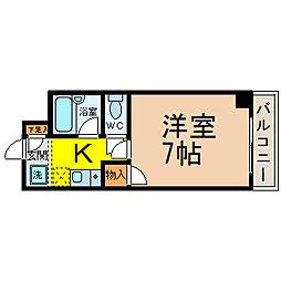 愛知県名古屋市中村区亀島2の賃貸マンションの間取り