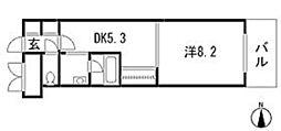 広島県広島市中区西十日市町の賃貸マンションの間取り