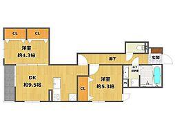 (仮称)南武庫之荘4丁目D-room[302号室]の間取り
