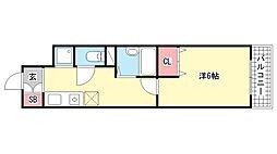 メゾン本町[4階]の間取り