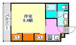 千葉県船橋市中野木2丁目の賃貸マンションの間取り