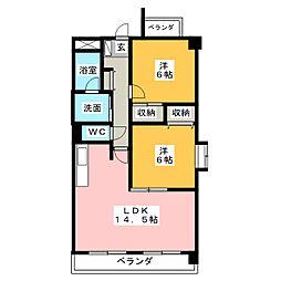 ソシア羽黒[2階]の間取り