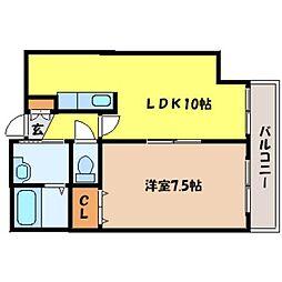 北海道札幌市中央区南四条東1丁目の賃貸マンションの間取り