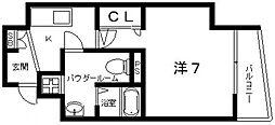 Osaka Metro谷町線 阿倍野駅 徒歩6分の賃貸マンション 9階1Kの間取り