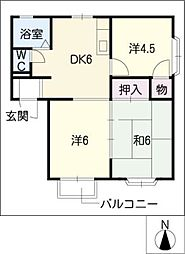 エクセルグリーン[1階]の間取り