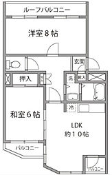 神奈川県横浜市神奈川区西寺尾3丁目の賃貸マンションの間取り