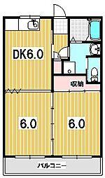 山紫水明館[105号室]の間取り