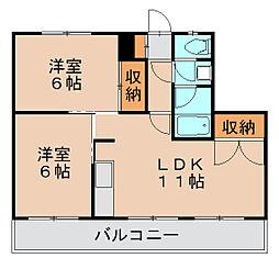 蝶和ビル2[2階]の間取り