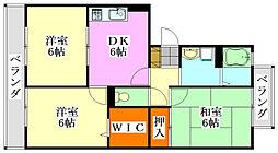 千葉県船橋市高根台7丁目の賃貸アパートの間取り