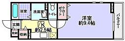 大阪府枚方市楠葉野田1丁目の賃貸アパートの間取り