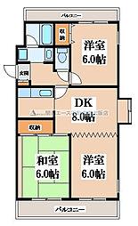 イーストコート1[4階]の間取り
