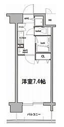 Osaka Metro堺筋線 扇町駅 徒歩3分の賃貸マンション 4階1Kの間取り