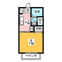 Apfel Haus[2階]の間取り