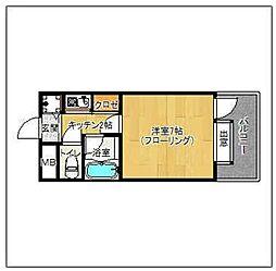 ピュアドーム平尾アークス[408号室]の間取り