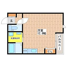 大阪府大阪市生野区巽中4丁目の賃貸アパートの間取り