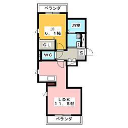 レ・セーナ切戸[3階]の間取り