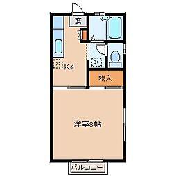 ラフォーレ竜ヶ崎A・B[B201号室]の間取り