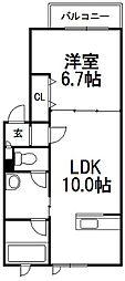 北海道札幌市豊平区豊平六条5丁目の賃貸アパートの間取り