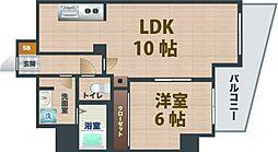 東京都中野区松が丘2丁目の賃貸マンションの間取り