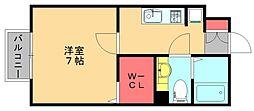 福岡県福岡市博多区麦野5丁目の賃貸アパートの間取り