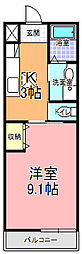 SAMURAI HITACHI[102号室]の間取り