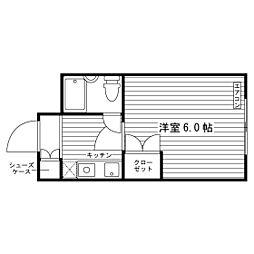 東京都世田谷区砧3丁目の賃貸マンションの間取り