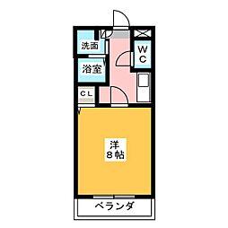 リバーサイドフラット[1階]の間取り