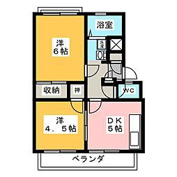 アーバンハイツ台原A[1階]の間取り