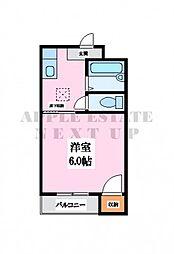 プレアール小阪II[1階]の間取り