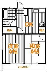 東京都葛飾区柴又5丁目の賃貸アパートの間取り