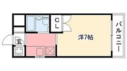 パラツィーナ甲子園口I[210号室]の間取り
