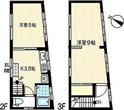 [一戸建] 神奈川県川崎市幸区幸町3丁目 の賃貸【/】の間取り