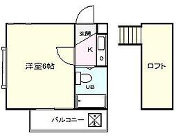 ジュネパレス松戸74[205号室]の間取り