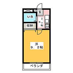 エクセル香蘭[5階]の間取り