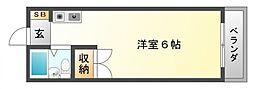 千里山コーポ[3階]の間取り