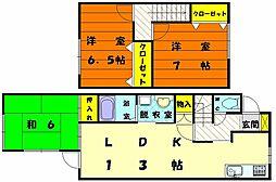 [テラスハウス] 福岡県福岡市東区青葉7丁目 の賃貸【/】の間取り