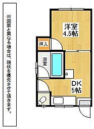 福岡県北九州市八幡東区天神町の賃貸アパートの間取り